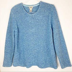 Eddie Bauer Chunky Knit Pullover Marled Blues sz L